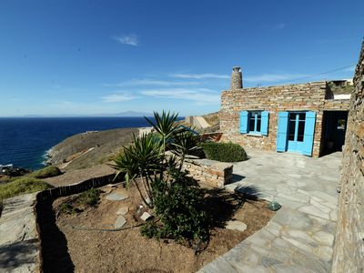 Photo for Stone built house with a great sea view and close to a large sandy beach