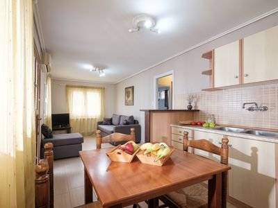 Photo for Plaka Beach - Bungalow for 2 adults + 2 children