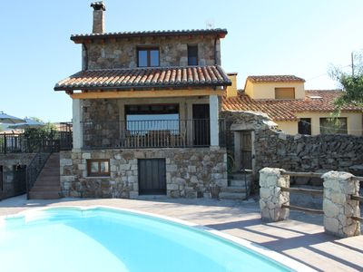 Photo for Cottages Gredos Avila 20 seats large groups Ideal family / friends Pool