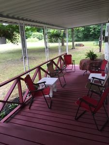 Relax on our covered front porch and enjoy beautiful sunsets with local wines