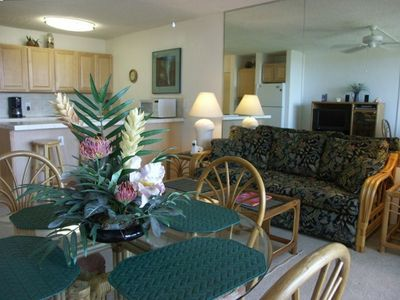 View inward from Lanai - Kitchen & Dining area