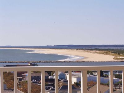 Photo for Large Penthouse Level Condo on Boardwalk with 60' Balcony facing Assateague Island