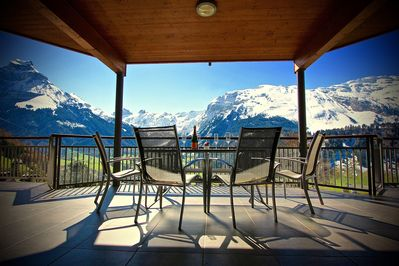 Apartment A  Front Balcony with exceptional panoramic views