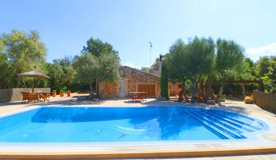 Photo for Sa Costa, Air Conditioning Big Pool, Wi-Fi, In  Forest,  14 Kms beach  Es Trenc