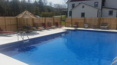 Our fenced in Pool