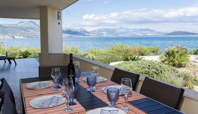 Photo for Beachfront villa with great views between Trogir and  Split, New Rates!