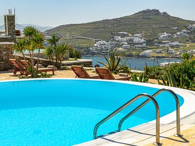 Photo for Luxury Mykonos Villa Terpsichore | Private Pool | Sleeps 12 | 4 Bedrooms | 5 Bathrooms | Agios Lazar