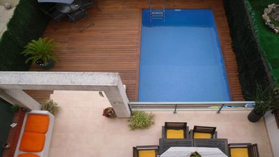 Photo for Corner house ideal for 2 families pool, terrace and private garden