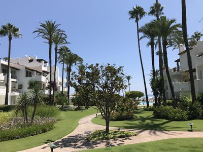 Photo for Spacious Apartment by the beach in the most exclusive complex in Costa del Sol
