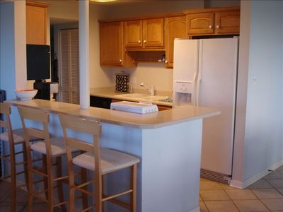 fully equipped kitchen for preparing meals