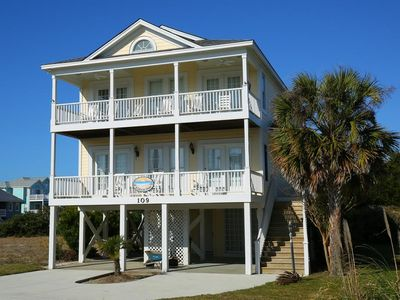 Photo for A Carolina Dream - Beautiful Home with Ocean and Waterway Views and Beach Club with Oceanside Pool!