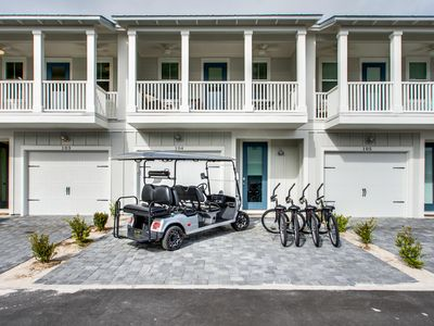 Photo for Book Now! 2020 Savings! 6-Seater Golf Cart! 3 Bikes! Beach! - Home 'Sea' Home at 30A Townhomes