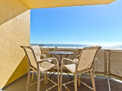 Photo for Directly Oceanfront Condo with Amazing Views! Steps from Main Beach and Tybee Pier