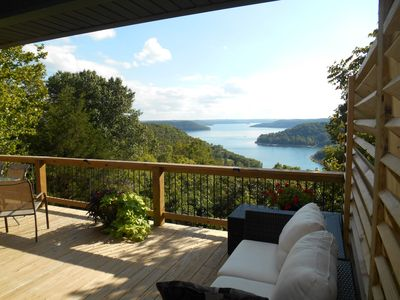 Enjoy this 5 mile view from most every room and 2 spacious decks at the cabin.