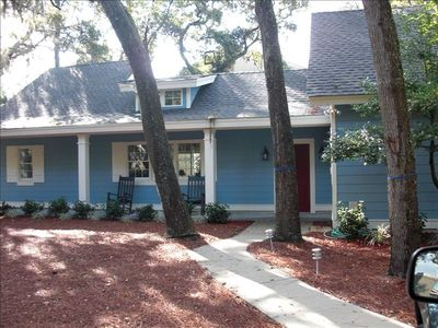 Photo for No Streets to Cross to the Beach, walk to Coligny, fenced in pool/hot tub