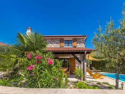 Photo for Wonderful and luxury holiday home  with private pool in Dobrinj, Island Krk, Croatia for 8 persons
