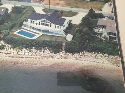 Photo for Luxury 5BR 4bath Waterfront, Beach Dual Masters, Dock, Kayaks, Red Brook Harbor