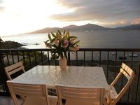 Good accommodation, quite spacious, great views from balcony, lovely swimming/beach very close.