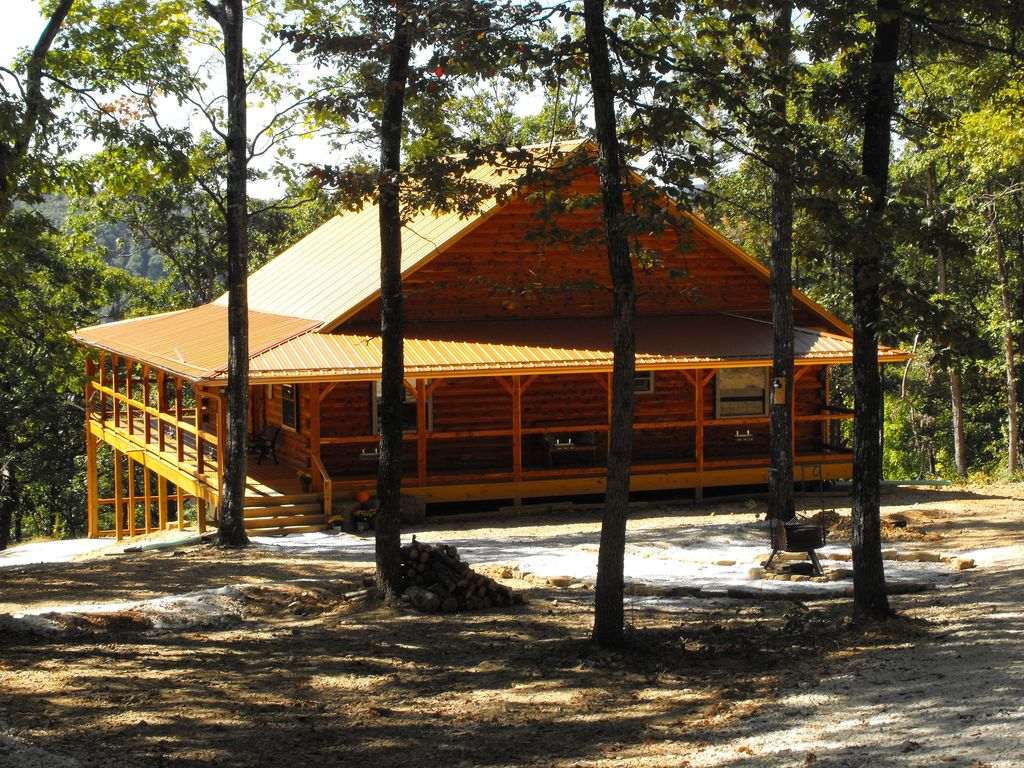 upscale arkansas cabins spectacular cabin bow lake rentals views mountain broken sunset