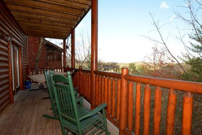 Additional seating on lower balcony or enjoy the use of the hammock.