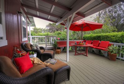 Perfect outdoor area for barbeque even when it's raining