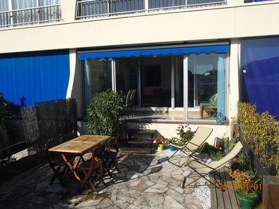 Photo for Nice apartment in ground garden in residence with swimming pool