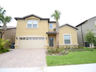 Photo for Lazy river pool and more! New 8br/6ba pool villa , Close to Disney,