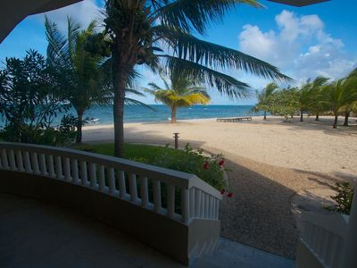 Photo for Ocean Front Condo in Los Porticos Villas Near Placencia Village (Villa 8B)