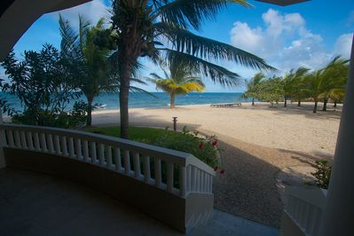 Breathtaking view of the Caribbean Sea from the spacious veranda