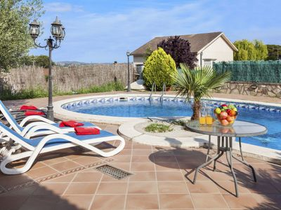 Photo for 4 bedroom Villa, sleeps 8 in Fogars de Tordera with Pool and WiFi