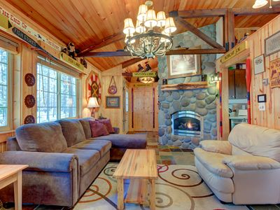 Photo for Charming cabin w/ a private hot tub & SHARC passes in a great location - dog OK!