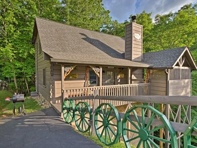 Photo for Cozy Cabin w/ Hot Tub & Views - 4 Mi to Dollywood!