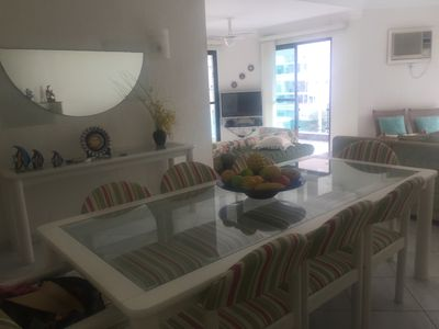 Photo for Apt. 3 double bedrooms. c / ar cond.- Guarujá - Enseada - (Brunella) - suite - 160 m2