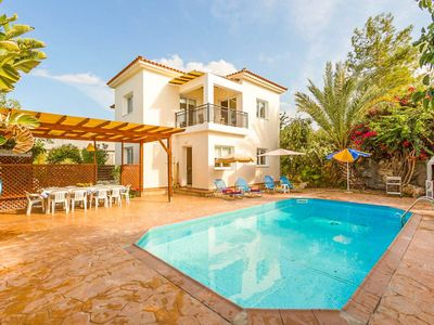Photo for Villa Kleopatra: Large Private Pool, Walk to Beach, A/C, WiFi, Eco-Friendly