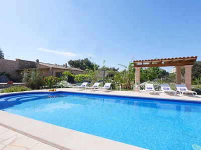 Photo for The flair of this 150 sqm holiday finca is completely from the Mallorcan style d