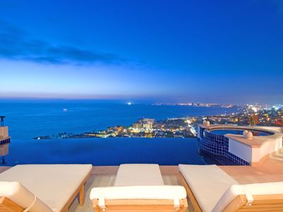 Photo for Breathtaking Views over Vallarta, Waterfall Feature, Heated Infinity Pool, Cook/Staff, Free WIFI, AC