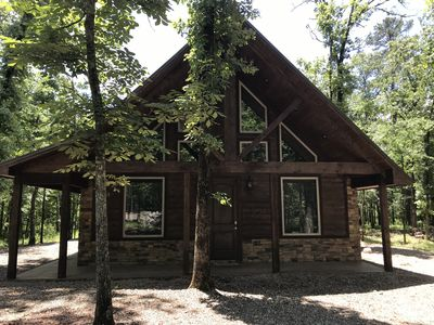 Photo for BRAND NEW STUNNING CABIN/2 KING BR/ LARGE LOFT/ POOL TABLE/ HOT TUB/FIREPIT