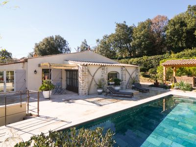 Photo for Beautiful and arborate Villa with swimming pool in Valbonne