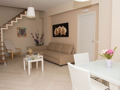 Photo for 2-level apartment with two bedrooms and sea view terrace