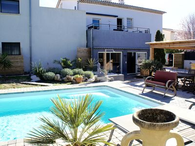 Photo for Villa with swimming pool and Jacuzzi ready by the sea