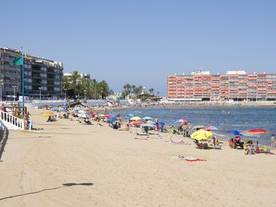 Photo for Los Locos Beach Apartment First line to the Sea with swimming pool