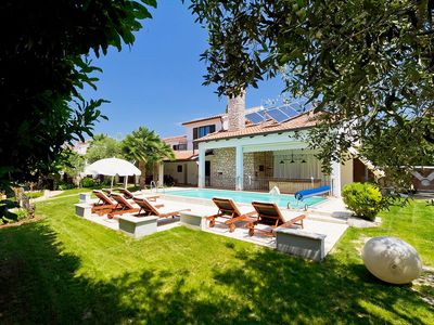 Photo for Villa Almira-2-with swimming pool, park, 300 m from the beach, two separate houses