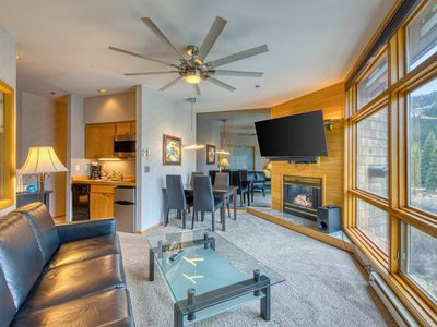 Photo for High-end condo w/mountain views, easy ski access & jetted tub!
