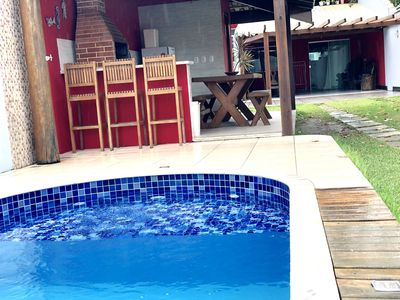 Photo for Beautiful house px to the Axé Moi tent, 04 suites c air cond., Pool, sleeps up to 15
