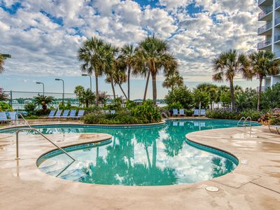 Photo for NEW LISTING! Gulf view condo w/ shared pool, hot tub, tennis - walk to the beach