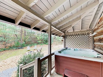 Hot Tub - Soak in the private hot tub on the covered deck.