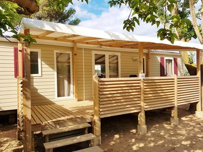 Photo for Very large mobilhome 6 pers. in Narbonne Plage, all comfort!