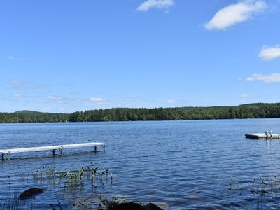 Photo for Lakefront home with gorgeous views, private dock, firepit, & modern conveniences