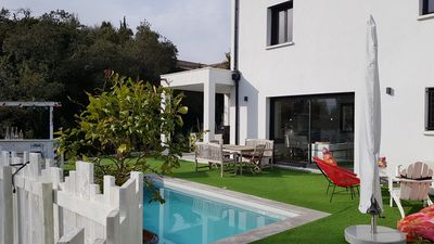 Photo for MODERN HOUSE WITH POOL ST AYGULF 5 MINUTES FROM THE BEACH
