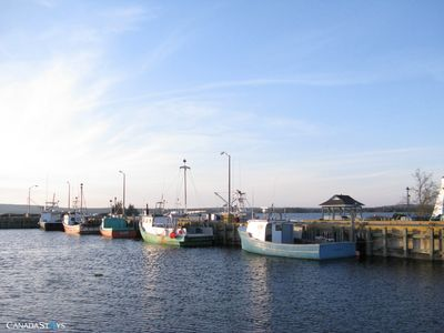 Lobster Boats at the wharf